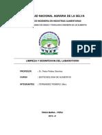 Lb 1- Limpieza y Desinfeccion