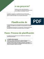 Proyectos en Excel