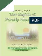 The Rights of Family Members by Shaikh-ul-Arab Wal Ajam Arifbillah Hazrat-e-Aqdas Maulana Shah Hakeem Muhammad Akhtar Saheb (Damat  Barakaatuhum)