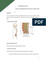 Lumbar Puncture BY BHERU LAL