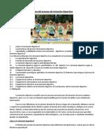 Claves Del Proceso de Iniciación Deportiva