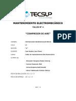 Informe 4 Compresor de Aire