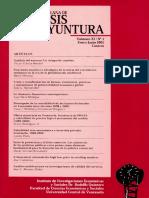Analisis de Coyuntura Volumen Xi No 1 Enero Junio 2005