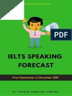Bộ Đề IELTS Speaking Dự Đoán Từ Tháng 09 Đến 12.2017 (Full)