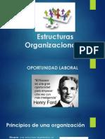 2.- Estructuras Organizacionales Administración