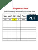 Ejercicios Dislexia Completar Palabras Con Sílabas Plantilla (1)
