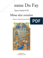 01 Du Fay Missa Sine Nomine