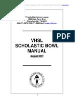 2017 Scholastic Bowl Manual