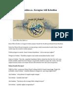 Hikayat Imam Kadzim as Kerugian Ahli Kebatilan