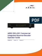 ARRIS DSR-4201 Operator Guide