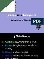 Genre and Subgenre