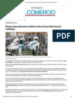 Nueva Tasa Aduanera Subirá Costos de Productos Por Catálogo _ El Comercio
