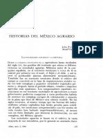 La Historia Agraria- Colegio de México