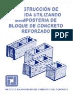 Construccion de vivienda utilizando Mamposteria de bloque de Concreto Reforzado - MEGA BIBLIOTECA - MB.pdf