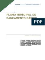 Plano Municipal de Saneamento Basico