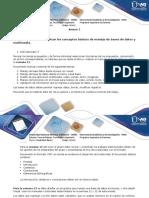 Anexo 1 Paso 4 - Identificar y Aplicar Los Conceptos Básicos de Manejo de Bases de Datos y Multimedia
