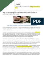 greenback cutthroat trout amgen pre-lab - student artifact