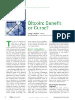 Bitcoin - Benefit or Curse