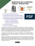 10-Procesos Genéticos de La Síntesis de Proteínas-la Traducción