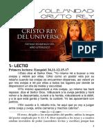 LECTIO Cristo Rey