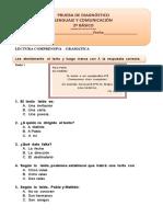 Prueba Diagnostica 2º Basico