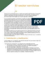 ECONOMIA ESPAÑOLA Y MUNDIAL. El sector servicios
