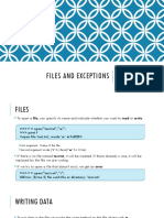12 - Files and Exceptions