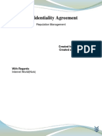 Craig Feigin Confidentiality Agreement
