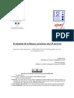 Evaluation de La Fluence en Lecture2017-2
