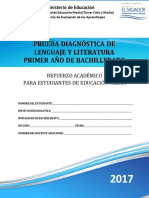 Prueba Diagnóstica- Lenguaje y Literatura -Primer Año Bachillerato - 2017