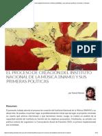 El Proceso de Creación Del Instituto Nacional de La Música (INAMU) y Sus Primeras Políticas _ Sociales y Virtuales