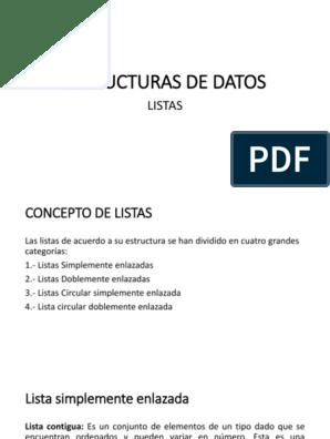Estructuras De Datos Listas Puntero Programación De