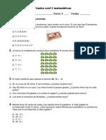 Prueba Coef 2 Matemáticas 2017
