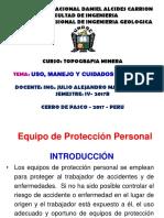 Uso, manejo y cuidado de EPP - 2017.ppt