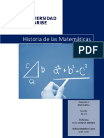 Santa Indhira M. Historia de Las Matematica