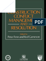 Construction Conflict & Resolution