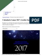 Calendario Lunar 2017 (Arabia Saudita)