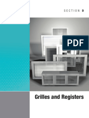Section d Grilles and Registers | Duct (Flow) | Hvac