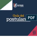Guia_postulante Admision Nov 2017