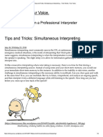 Tips and Tricks Simultaneous Interpreting – Their Words. Your Voice