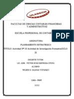 Planeamiento Estratégico – Wilder Oscar Salinas Yupanqui
