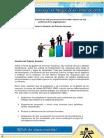 Gestion de La Evaluacion en Los Procesos Involucrados Dentro de Las Politicas de La Organizacion