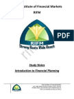 CFP Introduction to Financial Planning Study Notes Sample