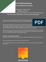 Workshop Hello Stage 27.01.2015