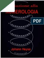 Iniziazione Alla Numerologia - Di Johann Heyss