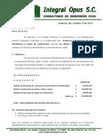 Presupuesto Arq. Mendoza Altata