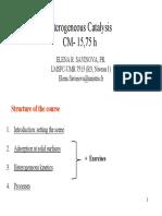 Heterogeneous Catalysis Chapter 1