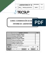 Informe de Conminucion 10