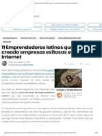 11 Emprendedores Latinos Que Han Creado Empresas Exitosas en Internet