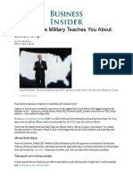 What the Military Teaches About Leadership - Business Insider